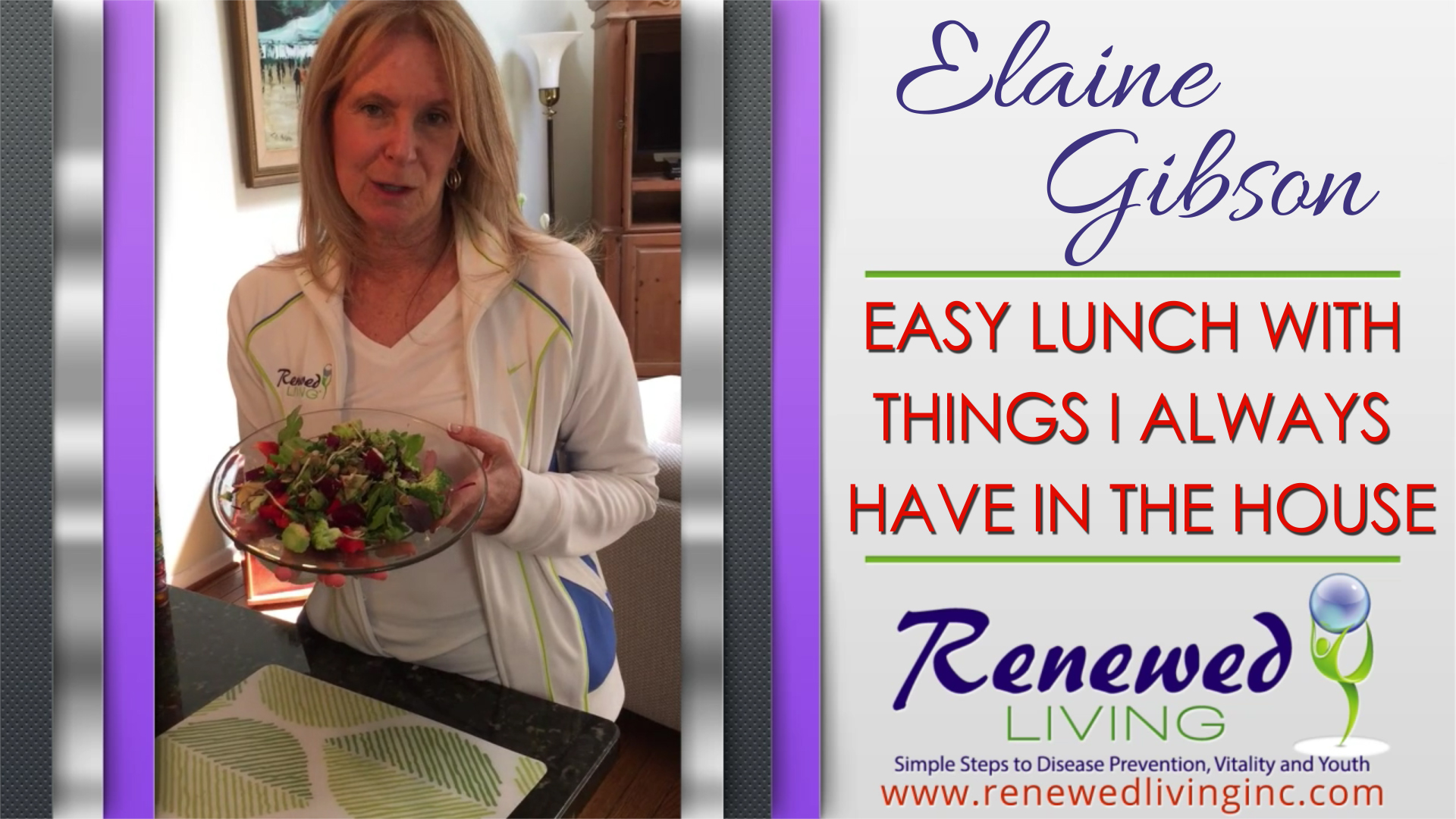 (Video) Easy Lunch with Things I Always Have in the House