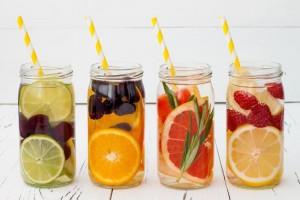 infused-waters-in-mason-jars
